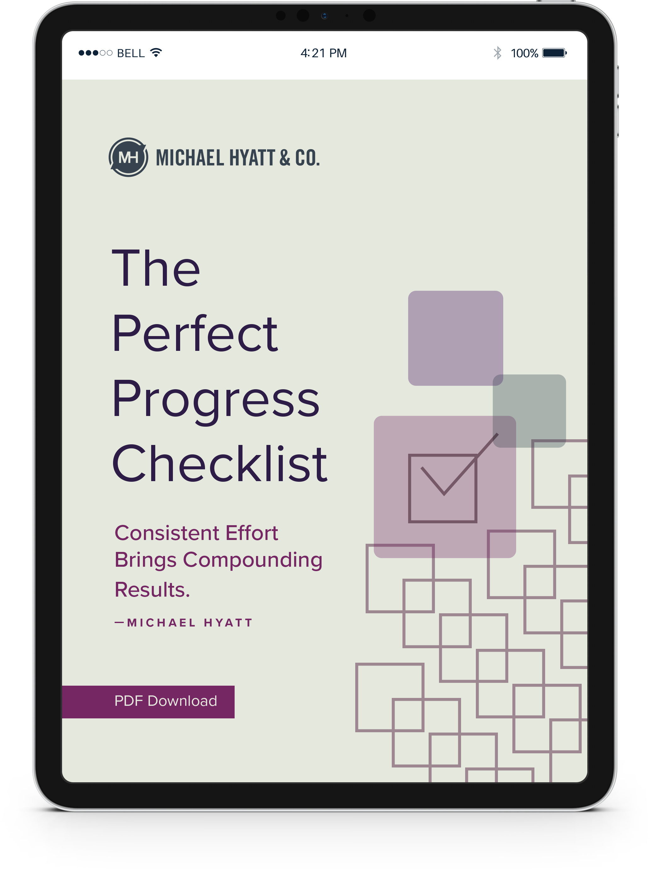 The Perfect Progress Checklist_3D